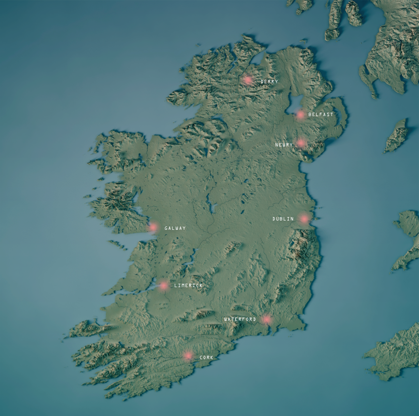 Map Of Southern Ireland Cities.All Ireland Smart Cities Forum All Ireland Smart Cities Forum